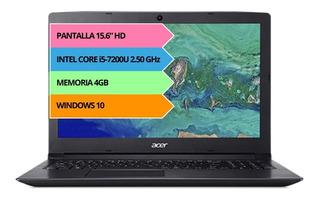 Notebook Acer Aspire 15.6 I5 7200u 4gb 16gb Windows 12ct