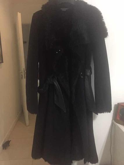 Tapado Armani Negro Piel Sintética Large Elegante