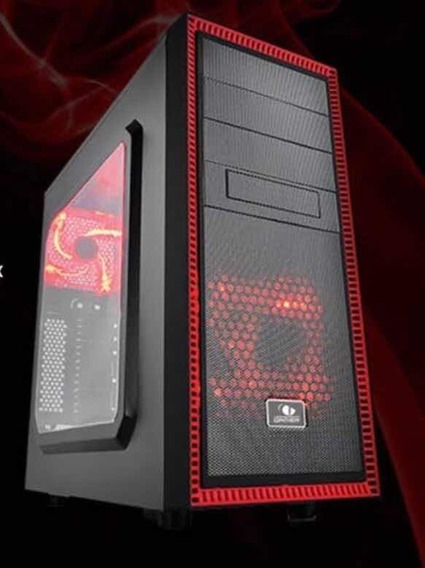 Gabinete Cpu Gamer C/ 2 Coolers E Gaveta Para Hd Leadership