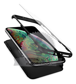 Funda Spigen iPhone XS Max Thin Fit 360 Black + Templado