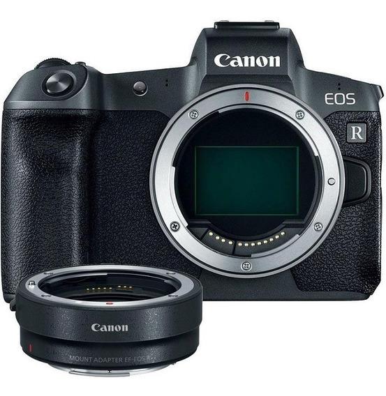 Canon Eos R Corpo + Adaptador Para Lentes Ef / Ef-s Nota Fiscal