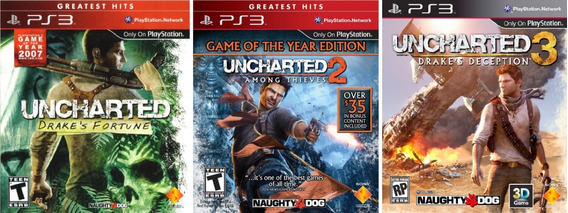 Jogos Uncharted 1 2 3 Playstation 3 Ps3 Física Frete Grátis