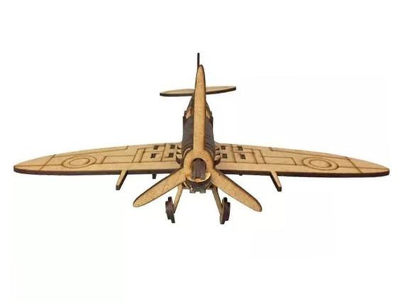 Avião Miniatura Para Montagem Modelo Spitfire 0419
