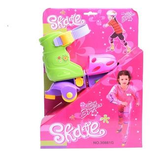Patines Skate King Sports Rosa Y Verde