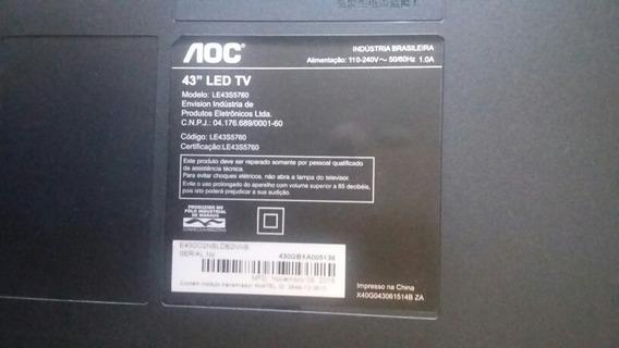 Tv Aoc 43 Le43s5760 Com Tela Trincada