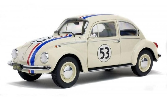 Miniatura Fusca Herbi 53 1973 The Love Bug 1:18 Solido