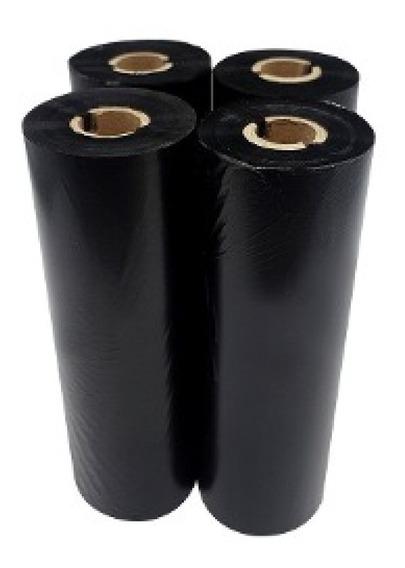 Kit Com 4 Rolos De Ribbon De Cera 110x74m P/ Zebra Tlp 2844, Gc420t, Argox Os214, Elgin, Tsc 244ce