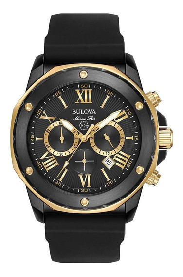 Bulova Marine Star 98b278 - Reloj Cronógrafo Black Chronogra