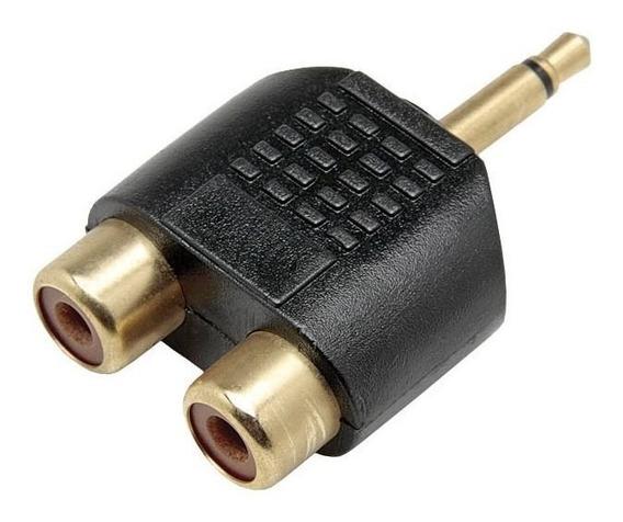 Adaptador P2 Mono Para 2 Jack Rca Gold Chipsce - 003-1209
