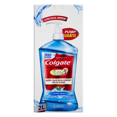 Enxaguatório bucal Colgate Total 12 clean mint 2 L