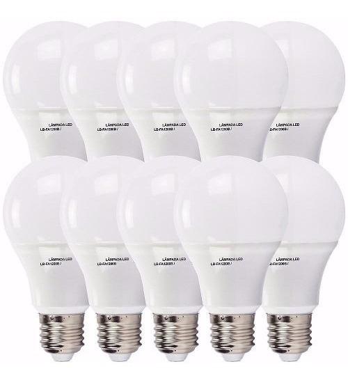 5 Lampadas Led 16w Bulbo Rosca E27 Bivolt Inmetro A60 Li@