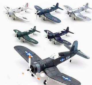 Aviones Militares A Escala 4d Vougth F4u Corsair 6 Pzas
