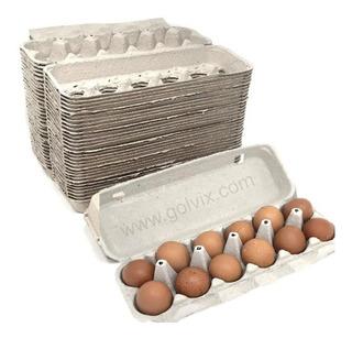 Docenera De Carton Empaque Para 12 Huevos Caja 250 Pzas Lisa