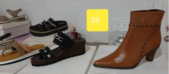 Calzado De Cuero !!!. Talle 35. Sandalias, Zapatos Y Botas.