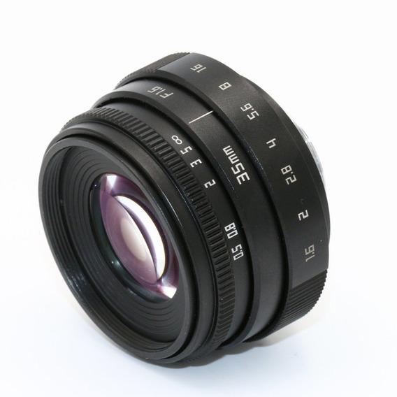 Mini 35mm F1.6 Aps-c Televisão/lente Cctv Para 16mm C Mount