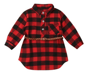 Vestido Xadrez Viscolycra Infantil