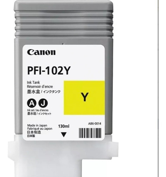 Cartucho Original Canon Pfi-102 Yelow Ipf 750, 130ml