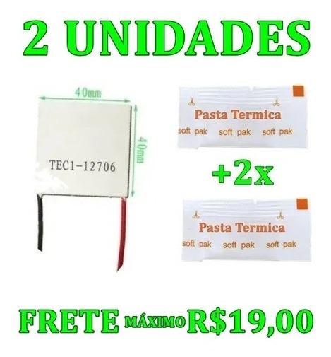 2 Un Pastilha Peltier Célula Tec1-12706 Tec112706 40mm