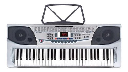 Imagen 1 de 2 de Teclado Musical Meike Mk-2083 54 Teclas Blanco