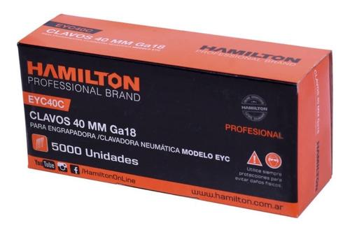 Clavos Engrapadora Ga18 Para Eyc40c2 X 40 Mm Hamilton 5000u