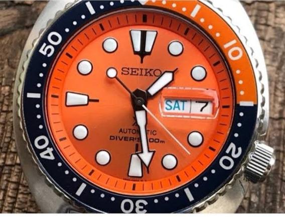 Relógio Seiko Laranja Modelo Sprc