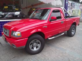 Ford Ranger Sport Xls Cab. Simples 2008 Vermelha Acess Compl