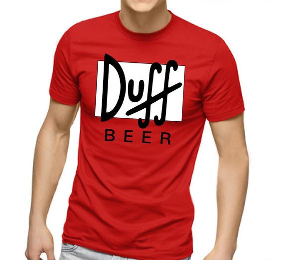 Camiseta Masculina Duff Cerveja Homer Simpsons 100% Algodão