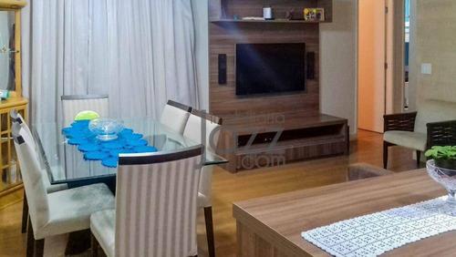 Lindo Apartamento Com 2 Dormitórios À Venda, 75 M² Por R$ 495.000 - Vila Georgina - Campinas/sp - Ap5816