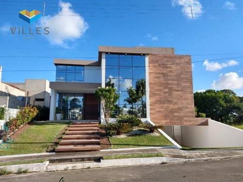 Casa Com 5 Dormitórios À Venda. Porteira Fechada , 270 M² Por R$ 2.200.000 - Serraria - Maceió/al - Ca0137