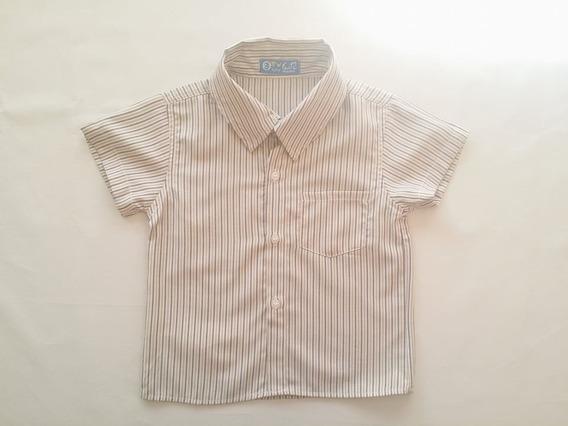 Camisa Gtv Camiseta Social Bebê Cinza Manga Curta 8951