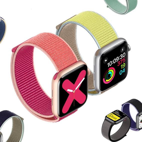 Pulseira Nova Nylon Loop Apple Watch Serie 2 3 4 5 42mm 44mm