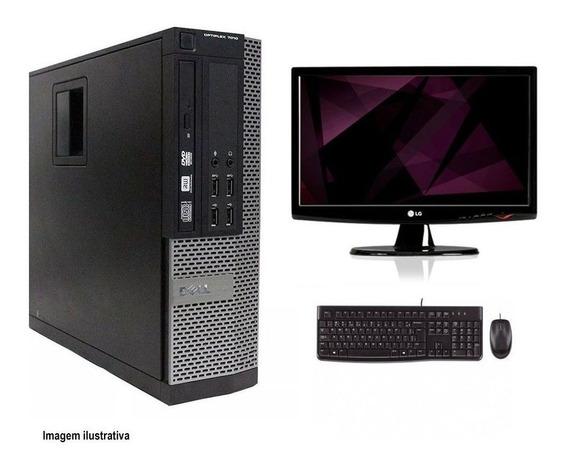 Computador Desktop Dell 7010 I5 8gb 120ssd Monitor 19