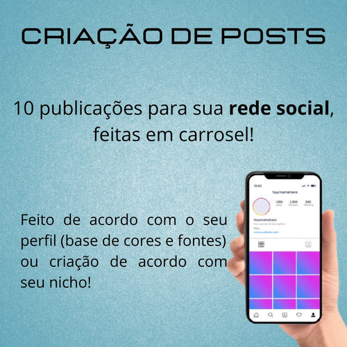 Imagem 1 de 2 de 10 Posts Personalizados Para Redes Sociais