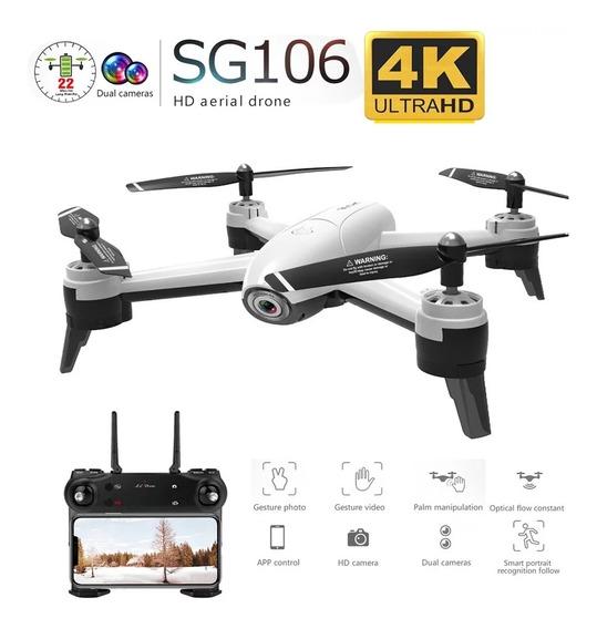 Drone Sg106 22 Min Vôo 2 Cameras 4k Hd
