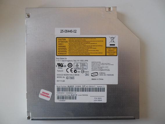 Gravador De Dvd Notebook Sata Sony Optiarc Ad-7560s