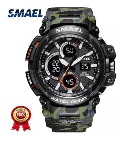 Relógio Smael Militar Camuflado Exército