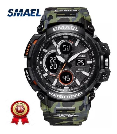 Relógio Smael Militar Camuflado Exército + Brinde