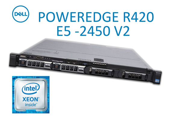Servidor Dell Poweredge R420 2xeon E5-2450 V2 2 Sata 1tb 64g