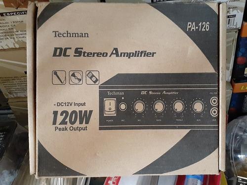 M18 Amplificador Estéreo Dc 12v 120watt Micrófono Auxiliar