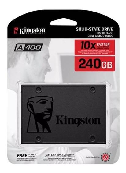 Ssd Kingston 240gb A400 500mb/s Sata 3 6gb/s
