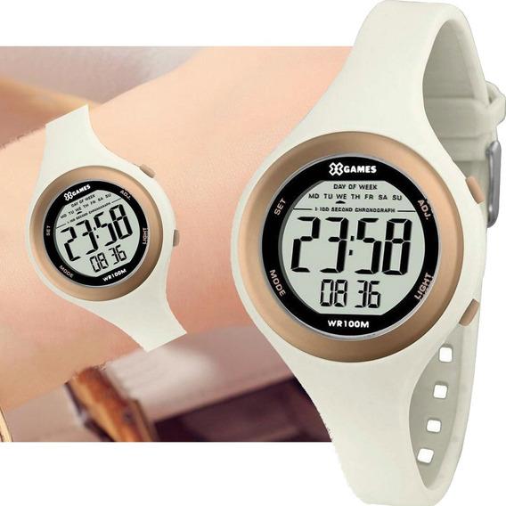 Relógio Feminino Digital X Games Branco Rosê Xfppd036