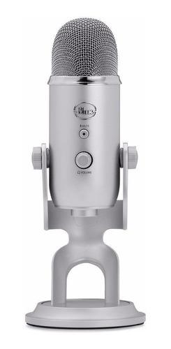 Imagen 1 de 2 de Micrófono Blue Yeti condensador multipatrón silver