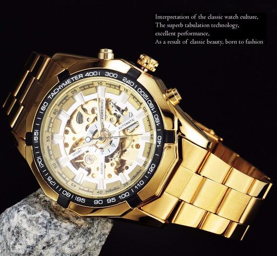 Relógio De Luxo Ouro De Pulso