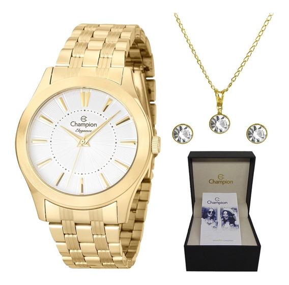 Relógio Champion Feminino Cn25378w Dourado C/ Nota