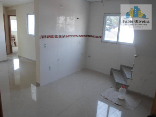 Imagem 1 de 30 de Cobertura Tipo Sem Condomínio Ultima Unidade Com 2 Dormitórios À Venda, 50 M² Por R$ 330.000 - Vila São Pedro - Santo André/sp - Co0099
