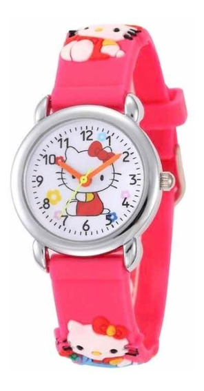 Relógio Hello Kitty Pulso Criança Menina Festa Lembrança