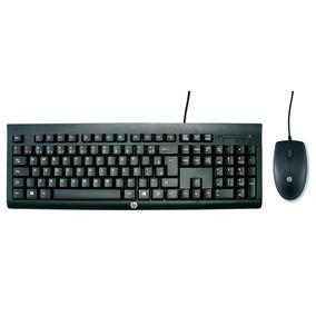 Combo Teclado E Mouse Usb Hp Com Fio Preto - C2500