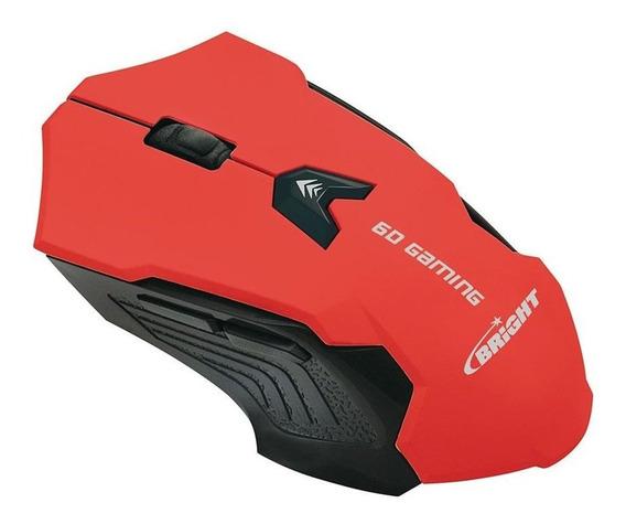 Mouse Gamer Bright Usb Vermelho 0461 6 Botões