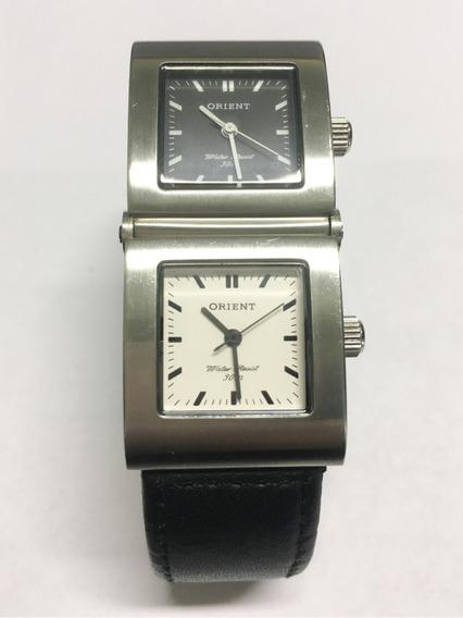 Relógio Original Duplo Orient Preto Masculino - Usado