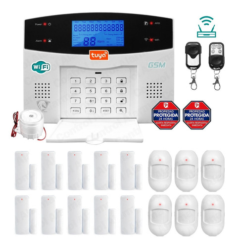 Wifi Alarma Kit 20 Gsm Pstn Seguridad Casa Alerta Vecinales